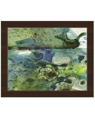 """Click Wall Art 'Atqasuk' Framed Print of Painting ABS0012580FRA Format: Espresso Framed Size: 10.5"""" H x 12.5"""" W"""