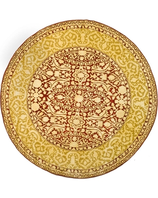 Safavieh Silk Road Maroon/Ivory (Red/Ivory) 4 ft. x 4 ft. Round Area Rug