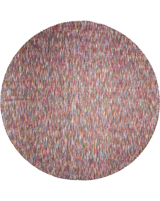 Room Envy Mallery 10 x 10 Round Indoor or Outdoor Abstract Vintage Area Rug Polyester   748R3825MLT000N91