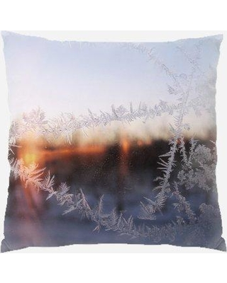 Amazing Deal On The Holiday Aisle Poythress Winter Indoor Outdoor Canvas Throw Pillow Polyester Polyfill In Brown Gray Silver Size 18x18 Wayfair