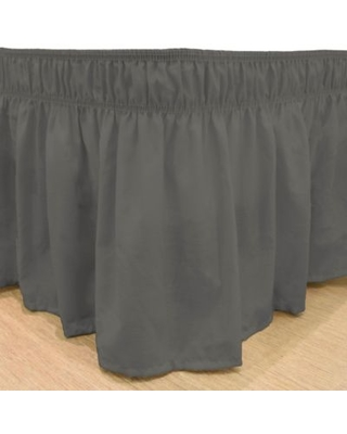 EasyFit™ Solid Twin/Full Ruffled Bed Skirt in Charcoal