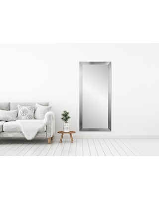 BrandtWorks Grand Silvertone Leaning 32 x 71 - Inch Floor Mirror - Silver - 32 x 71 (Large (over 32'' high))