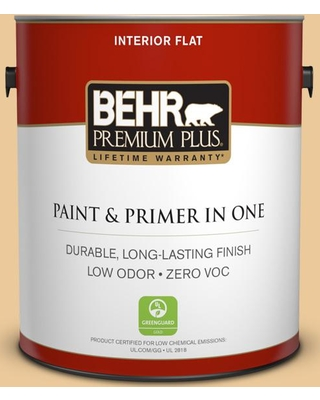 BEHR Premium Plus 1 gal. #M270-4 Filtered Moon Flat Low Odor Interior Paint and Primer in One