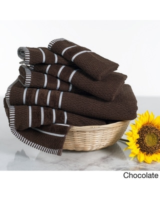 Windsor Home Black Cotton Rice Weave 6-piece Towels (Chocolate)