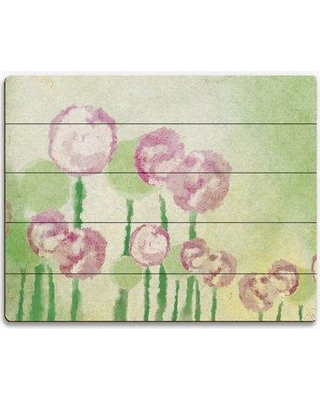 """Click Wall Art Pink Flowers Spring Mist Painting Print on Plaque SBC0000115PLK Size: 20"""" H x 24"""" W x 1"""" D"""