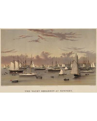 Buyenlarge 'The Yacht Squadron at Newport' Graphic Art 0-587-24411-9
