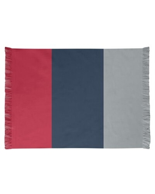 Tennessee Red Football Red/Dark Blue Area Rug East Urban Home Backing: No