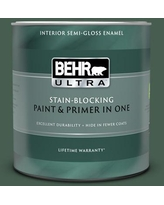 Savings On Behr Ultra 1 Qt N400 7 Vine Leaf Semi Gloss Enamel Exterior Paint And Primer In One
