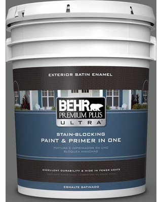 BEHR ULTRA 5 gal. #PPU24-05 Ancestral Satin Enamel Exterior Paint and Primer in One