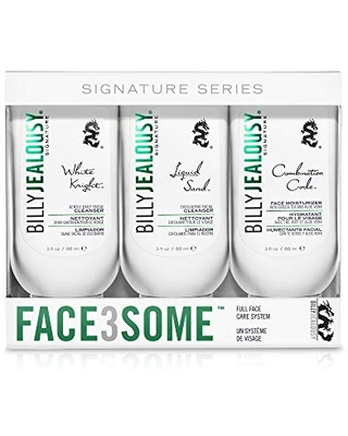 Billy Jealousy Face3Some Mens Face Trio Cleansing Kit With Daily Facial Cleanser, Exfoliating Facial Cleanser and Face Moisturizer, 1 count