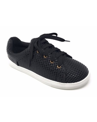 Forever Young Women's Textured Material Lace up Sneakers