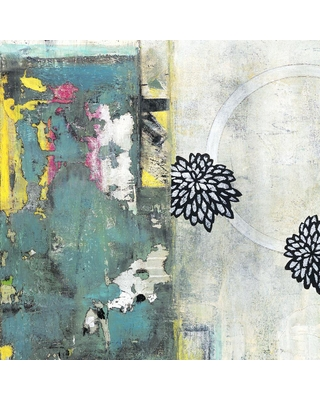 """Giant Art 54 in. x 54 in. """"After the Winter I"""" by Jodi Fuchs Wall Art, Green"""