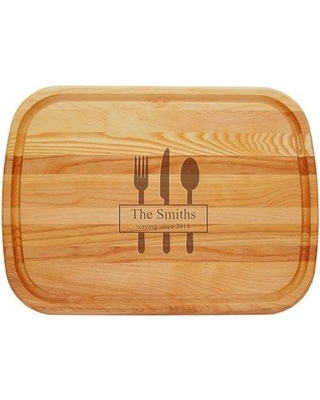 Carved Solutions Wood Cutting Board LWEDLRG-Serving-Since