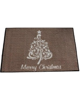 The Holiday Aisle Clements Scroll Christmas Tree Brown/White Area Rug W000427198 Rug Size: Rectangle 4' x 6'