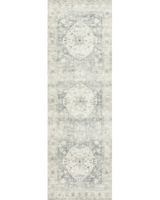 "Oriental Blue Area Rug Rug Size: Runner 2'6"" x 7'6"""
