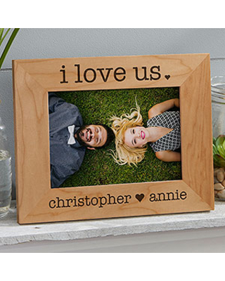 I Love Us 5x7 Engraved Wood Picture Frame