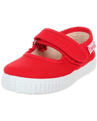 Cienta Mary Jane Sneakers for Girls – Red Casual Shoes with Adjustable Strap, 22 EU (6 M US Toddler)