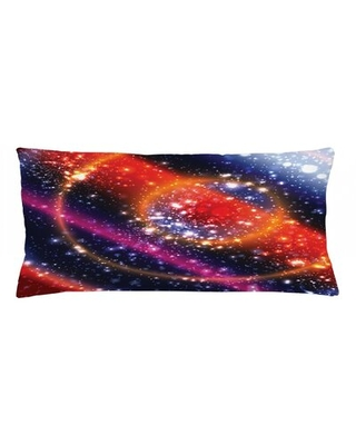 """Space Indoor / Outdoor Lumbar Pillow Cover East Urban Home Size: 16"""" x 36"""""""