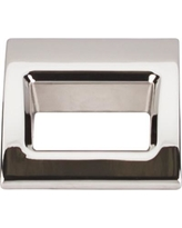 """Top Knobs Mercer Tango Small 1 1/8"""" Center Finger Pull TK615 Finish: Polished Nickel"""