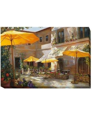 """Artistic Home Gallery 'Closed on Monday' Oil Painting Print on Wrapped Canvas 705IG Size: 16"""" H x 24"""" W x 1.5"""" D"""