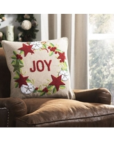 Remarkable Deals On Aldo Joy Rustic Wreath Cotton Throw Pillow The Holiday Aisle