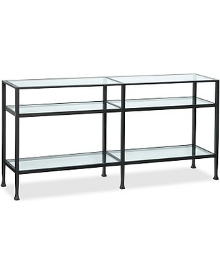 Attrayant Tanner Metal U0026 Glass Long Console Table, Matte Iron Bronze Finish