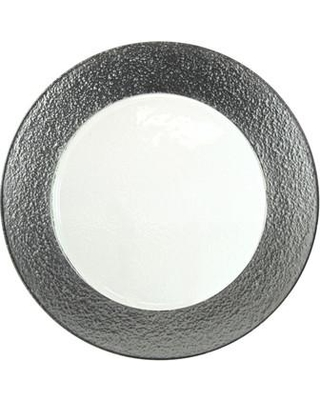 """Ten Strawberry Street Colored Rim 13"""" Charger (Set of 6) HAL- Color: Silver"""