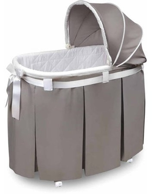 Badger Basket Wishes Oval Bassinet, Gray
