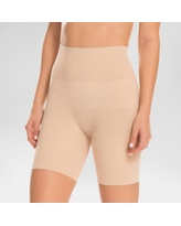 Assets by Spanx Women's Remarkable Results Mid-thigh Shaper - Light Beige M