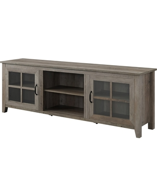 On Now 20 Off 70 Farmhouse Wood Glass Door Tv Stand Gray Wash