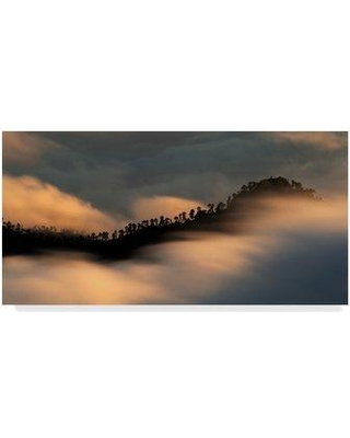 """Trademark Art 'Sailing The Clouds' Photographic Print on Wrapped Canvas 1X05411-CGG Size: 10"""" H x 19"""" W x 2"""" D"""