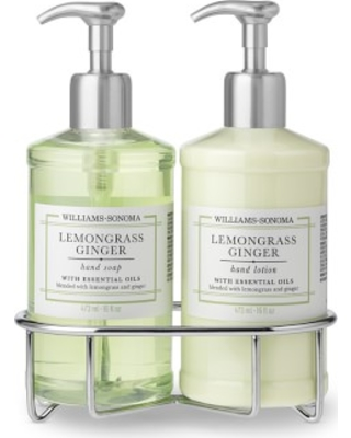 Williams Sonoma Lemongrass Ginger Hand Soap & Lotion, Deluxe 5-Piece Set