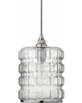 """Madison 8 1/2"""" Wide Clear Glass with Silver Mini Pendant"""