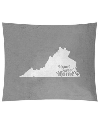 """East Urban Home Home Sweet Virginia Beach Tapestry EBIU5302 Size: 80"""" H x 68"""" W Color: Gray"""