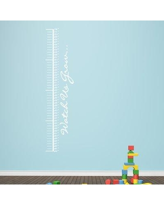 Harriet Bee Watch Us Grow Growth Chart Decal BF204721 Color: White