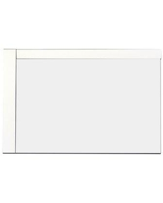 """American Imaginations Modern Wall Accent Mirror AI-6 Size: 24"""" H x 32"""" W Finish: White Hardware Finish: Brushed Nickel"""