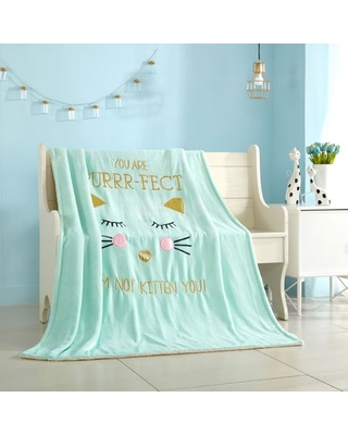 Heritage Club Mix and Match Royal Plush Throw and Pillows for Kids