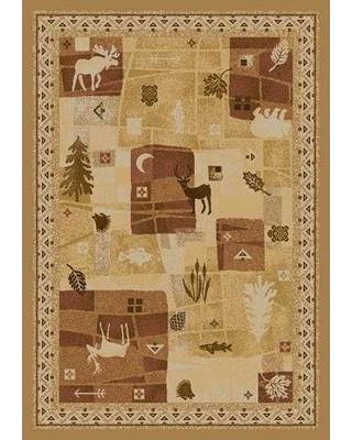 """Millwood Pines Lamont Deer Trail Maize Area Rug W000408736 Rug Size: Square 7'7"""""""