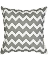 Greendale Home Fashions Chevron Cotton Canvas Throw Pillow TP5213- Color: Gray