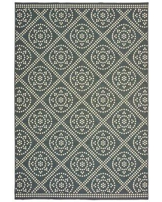 Solo Rugs Laurette Green/Ivory Rug W0016-6x9-S1533969LZ Rug Size: Rectangle 4' x 6'