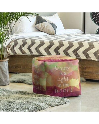 East Urban Home Ottoman FCKY3606 Upholstery Color: Green/Pink/Yellow