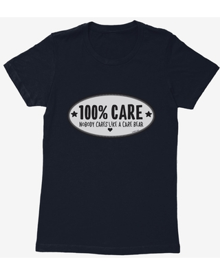 Care Bears Grayscale 100% Care Womens T-Shirt