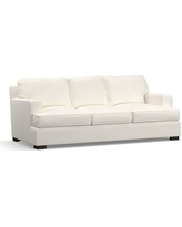 "Townsend Square Arm Upholstered Sofa 86"", Polyester Wrapped Cushions, Denim Warm White"