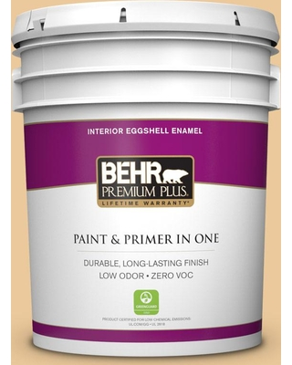 BEHR Premium Plus 5 gal. #M270-4 Filtered Moon Eggshell Enamel Low Odor Interior Paint and Primer in One