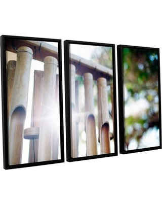 ArtWall 'Bamboo Wind Chimes' by Elena Ray 3 Piece Framed Photographic Print on Canvas Set 0ray199c3654f