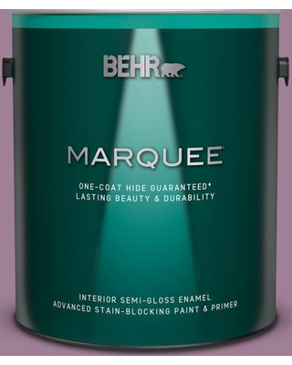 BEHR MARQUEE 1 gal. #PMD-82 Violet Bouquet Semi-Gloss Enamel Interior Paint & Primer