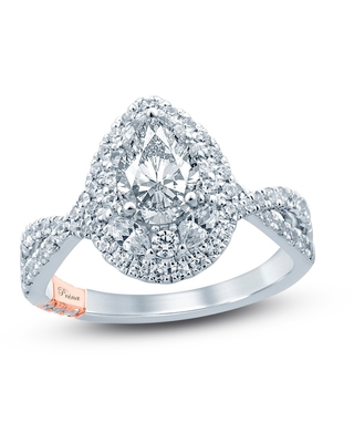 Jared The Galleria Of Jewelry Pnina Tornai I Will Always Love You Diamond Engagement Ring 1-5/8 ct tw Pear/Marquise/Round 14K Two-Tone Gold