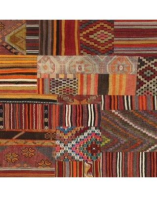 World Menagerie Octavian Contemporary Brown/Green/Red Area Rug X112077896 Rug Size: Rectangle 2' x 5'