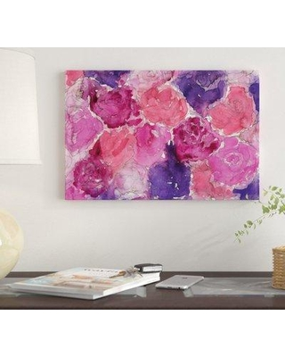 """East Urban Home 'Pink Roses' by Kahri Graphic Art Print on Wrapped Canvas EUME4129 Size: 18"""" x 26"""" x 0.75"""""""