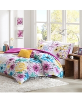Skye Floral Comforter Set (Twin/Twin Extra Long) Pink&Blue - 4pc